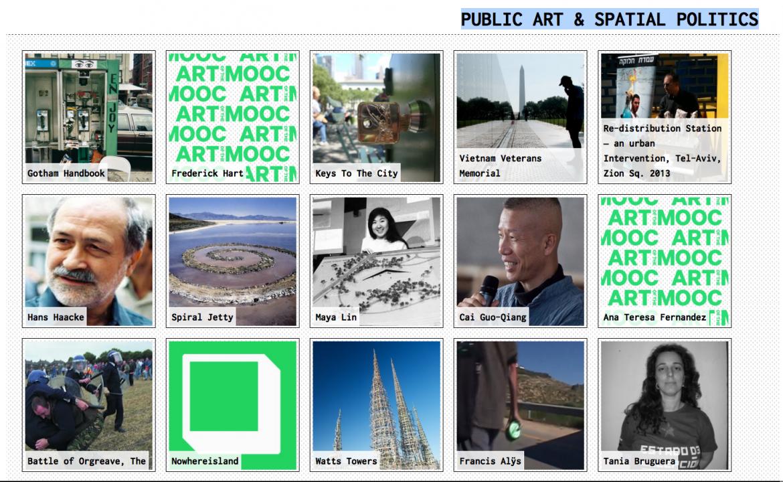 Art of the MOOC 1 : PUBLIC ART & SPATIAL POLITICS